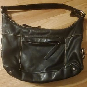 fossil leather shoulder bag. like new never used